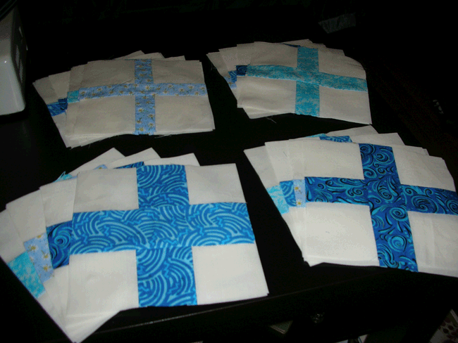 Thirty two blocks for Simple Math in four colors