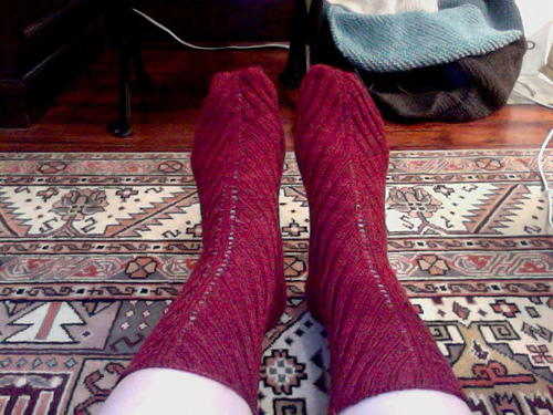 Red socks for my mom