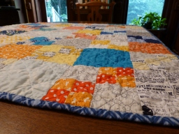 Finished Penny Patch Quilt!