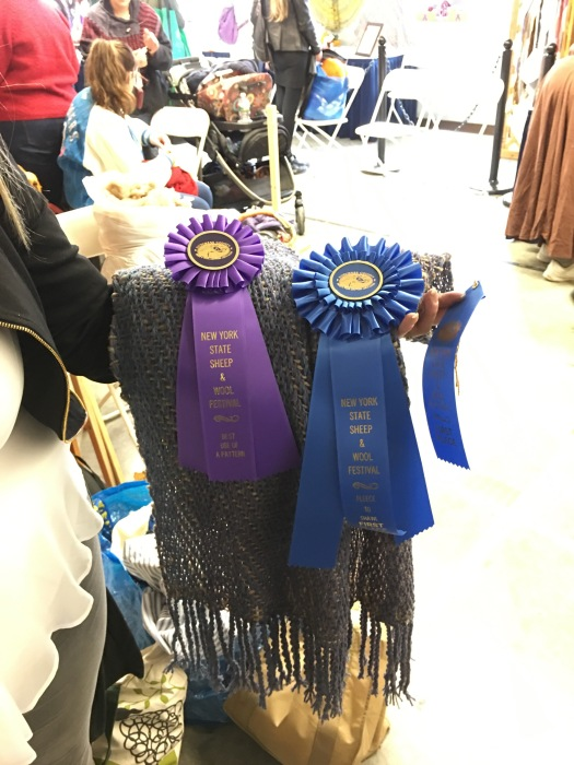 Prize Ribbons on Shawl